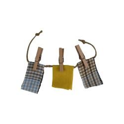 Wäscheleine für den Basar gelb 14 cm
