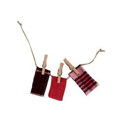 Wäscheleine für den Basar rot 14 cm