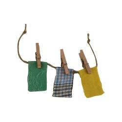 Wäscheleine für den Basar grün 14 cm