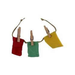 Wäscheleine für den Basar rot und gelb 14 cm