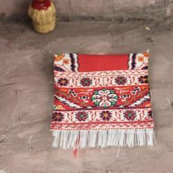 Teppich gefaltet rot 4 cm