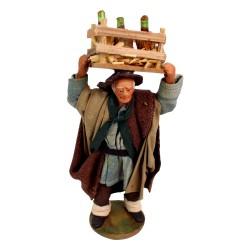 Händler mit  Weinkiste 16 cm