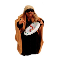 Töpferfrau sitzend 12cm