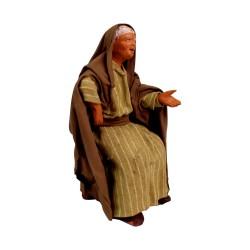 Alte Frau sitzend12 cm
