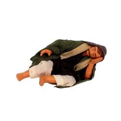 Hirte schlafend 5 cm aus Ton/Stoff