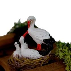 Storch, Storchfamilie im Nest