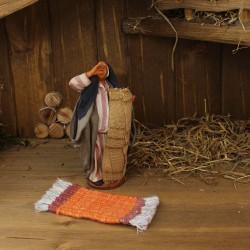 Teppich orange/rot handgewebt 11,5 cm lang