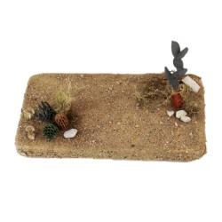Wüste natur mit Kakteen 22 cm
