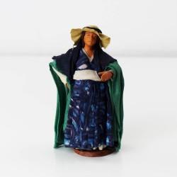 Schwangere Frau 12 cm aus Ton/Stoff