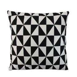 Sofakissen Dreiecke Schwarz / Weiß