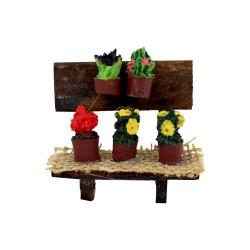 Marktstand natur mit Blumen