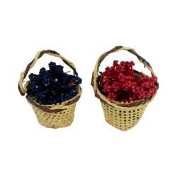 Korb mit Blumen 2er Set