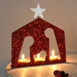 Krippe aus Keramik, Weihnachtsdeko