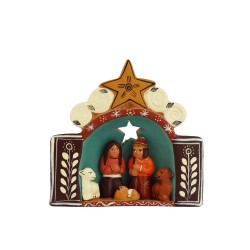Krippe aus Keramik Estrella, Weihnachtsdeko