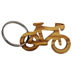 Schlüsselanhänger aus Olivenholz - Notenschlüssel