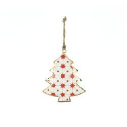 Fensterdeko Weihnachten Tannenbaum weiß