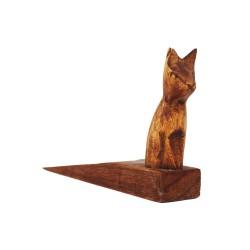 Türstopper aus Holz Katze