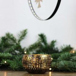 Teelichtschale bronzen/golden M