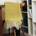 Kuscheldecke gelb, Wolldecke