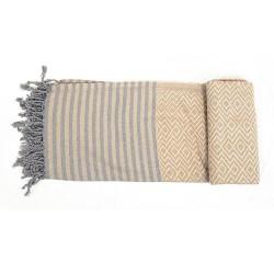 Handtuch Fouta gold Baumwolle