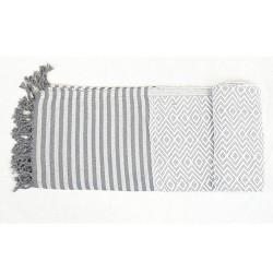 Handtuch Fouta weiß Baumwolle