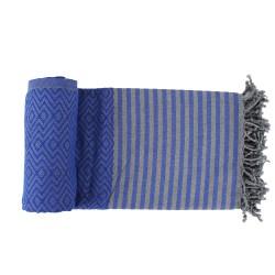 Handtuch Fouta blau Baumwolle