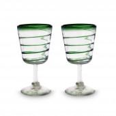 Cocktailgläser 2er Set grüne spirale
