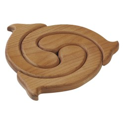 Topfuntersetzer aus Holz - Finesse
