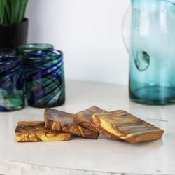 Glasuntersetzer aus Holz | Untersetzer im 4er Set