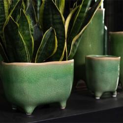 Blumentopf grün Keramik