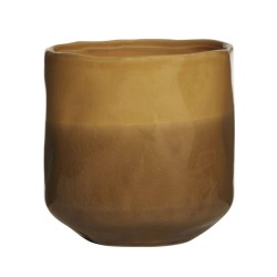 Blumentopf amber Keramik