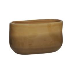 Blumentopf Bowl amber Keramik