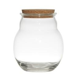 Vorratsglas Burbuja 20cm H, Bubble Vase mit Kork