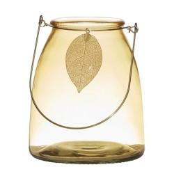 Lanterne Leaf gelb 15cm