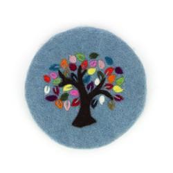 Topfuntersetzer Baum des Lebens blau