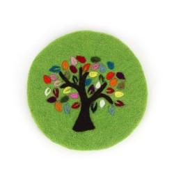 Topfuntersetzer Baum des Lebens grün