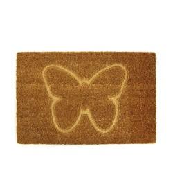 Fußmatte Tiermotiv Schmetterling aus Kokosfaser