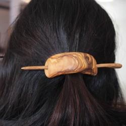Haarspange aus Holz mit Nadel