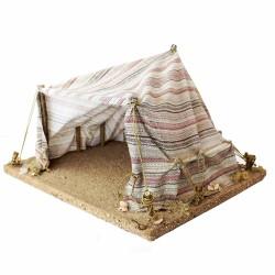 Zelt / Beduinenzelt gestreift für 12 cm Figuren