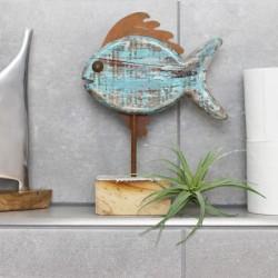 Holz/Metall Fisch auf Stand