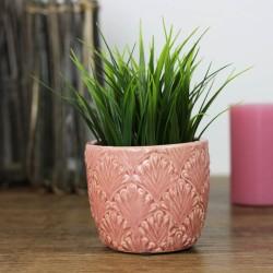 Blumentopf Keramik Old Style Rosa