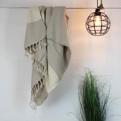 Handtuch Fouta sand Baumwolle