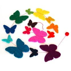 Girlande Schmetterlinge aus Filz