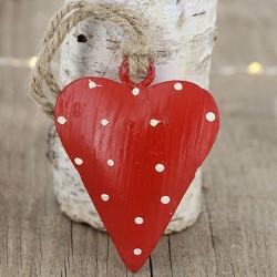 Fensterdeko aus Metall in Herz Design rot