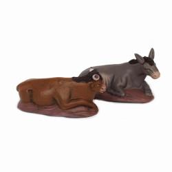 Ochse und Esel 14cm