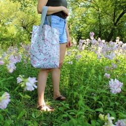 Shopper Hanami silber / Einkaufstasche - Ikuri