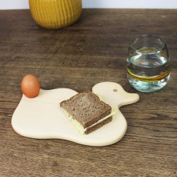 Frühstücksbrett Ente aus Holz