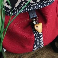 Schlüsselanhänger aus Holz Herz im Herz geölt 6 cm