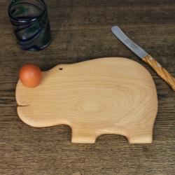 Frühstücksbrett Nilpferd aus Holz