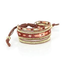Armband aus Glasperlen Ludica braun